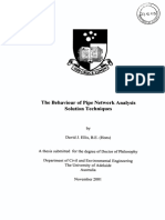 The Behavior of Pipe Network Analysis