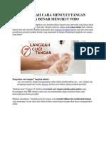 7 Langkah Cuci Tangan Eny
