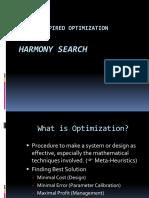 Optimization Techniqueharmony Search