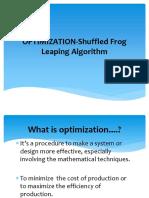 OPTIMIZATION-Shuffled Frog Leaping Algorithm