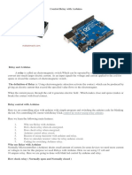 Control Relay With Arduino