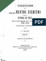 Historia Chile Impr. Ercilla, 1895. VII