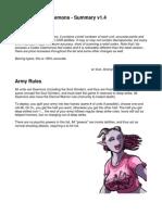 Codex - Chaos Daemons Summary 1.4