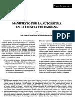 Manifiesto Por La Autoestima en La Ciencia Colombiana_Fals Borda & Mora-Osejo