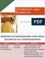 3.Ketidaknyamanan kehamilan