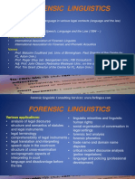 Forensic Linguistics Presentation