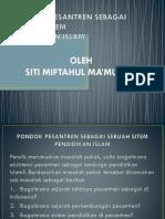 Pondok Pesantren Sebagai Sebuah Sitem Pendidikan Islam