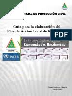 Guía para la elaboración del Plan de Acción Local de Resiliencia-Gobierno de Chiapas-Enero 2017