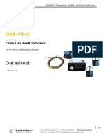 FourFaith DJX-FF-C Datasheet Cable Line Fault Indicator