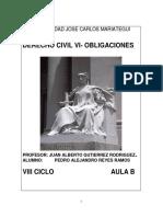 DERECHO CIVIL-OBLIGACIONES DE DAR, DE HACER Y DE NO HACER