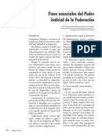 Fines Esenciales Del Poder Judicial de La Federación