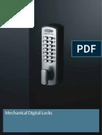 Mechanical Digital Locks Catalogue Section