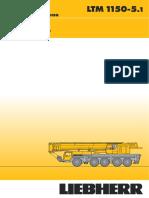 150 Ton Crane Load Chart LTM1150-5.1_Volledige Brochure