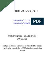TOEFL Appetizer