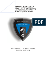 Proposal Musyawarah Anggota PKS SMA N 1 Purbalingga 2009