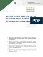 Nuevos aceros TWIP/TRIP en los automóviles del futuro Rafael Pla Ferrando, Samuel Sánchez Caballero, José Enrique Crespo Amorós, Miguel Ángel Sellés Cantó