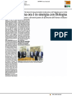Biologia marina è ora in sinergia con Bologna - Il Resto del Carlino del 6 ottobre 2017