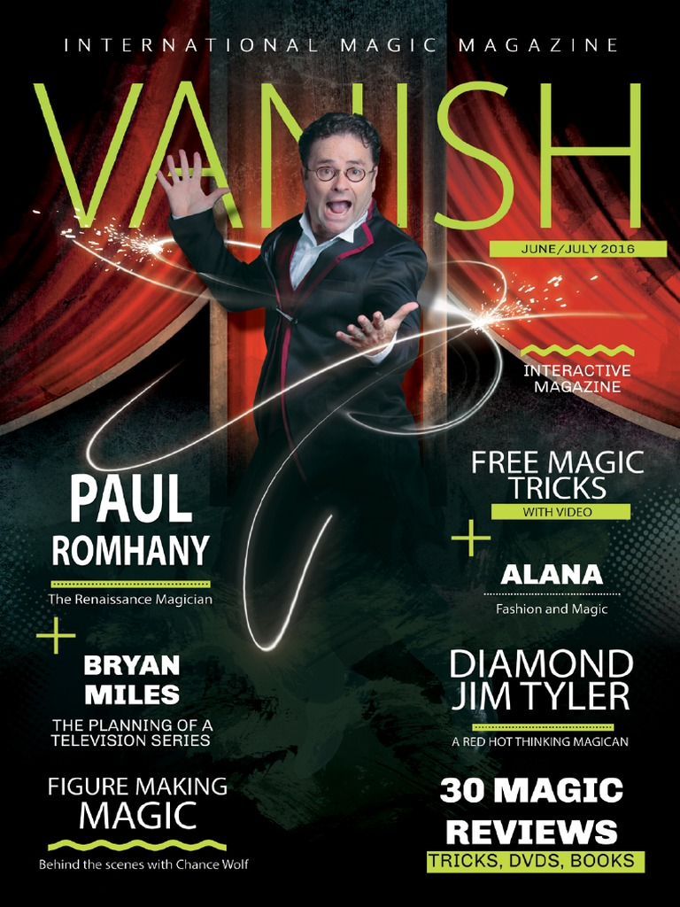 Vanish Magic Magazine Paul Romhany Edition 26 | Mentalism | Magic (Illusion)