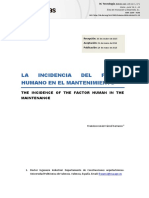 La incidencia del factor humano en el mantenimiento Francisco Javier Cárcel Carrasco