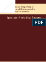 Spectroscopic Properties of Inorganic and Org a No Metallic Compounds_vol1