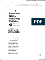 List of International NGOs Operating in Pakistan