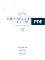 Ethics Report on Walmart