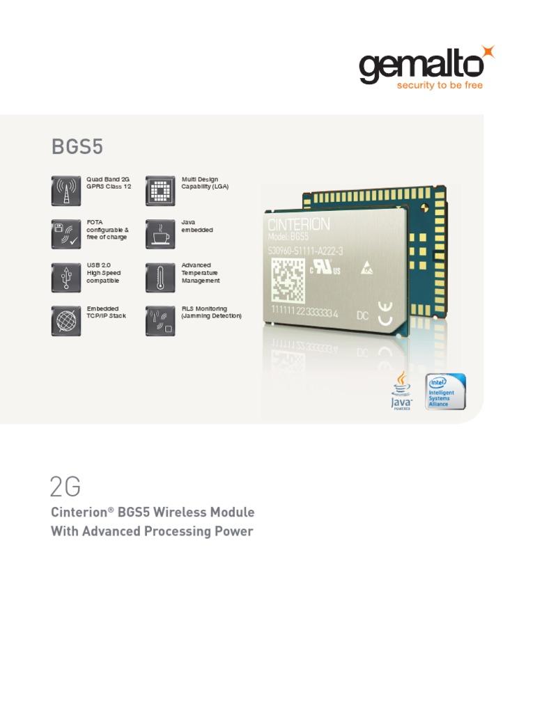 M2M_BGS5_datasheet   Embedded System   General Packet Radio