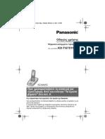 User's Manual Panasonic KX-TG7511GR