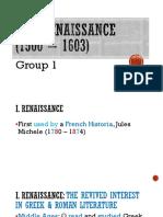 The Renaissance (1500 – 1603)