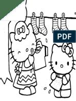 Mewarnai Gambar Hello Kitty 2