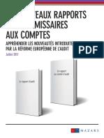 Les Nouveaux Rapports Des Commissaires Aux Comptes