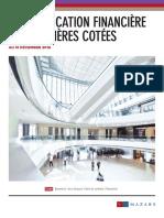 Communication Financière Des Foncières Cotées Au 31 Décembre 2016
