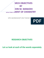 Research Objectives Presentation 26th June 2014 SPS