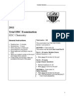 2011 Chemistry - Caringbah Without Solutions