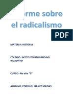 Informe Sobre El Radicalismo