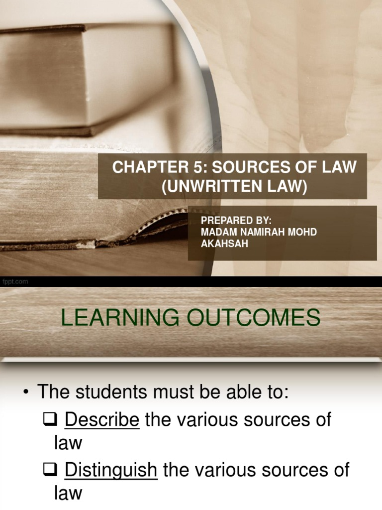5 sources of law