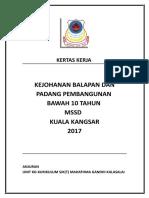 Kertas-kerja- Latihan Balapan Dan Padang Pembangunan