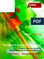 Mark Making - Hospital Activities Programme Oct - Dec 2017