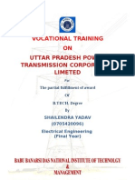 summer training report on unnao sub station