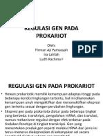 1. Regulasi Gen Pada Prokariot (1)