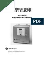 1226966- Manual- ESeries Ozone Generator