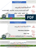 Present Perfect Continuous Tense in Urdu by EA Spoken English On YouTube