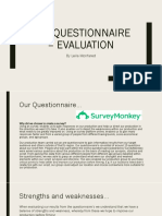 Pre Questionnaire - Evaluation