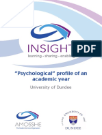 AMOSSHE Insight Psychological Profile of an Academic Year