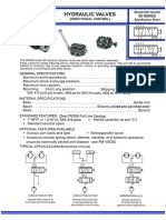Cross Manufacturing Spec Sheets Selector and Control Valves Flow SD Series