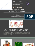Fundamentos de Nutricion Humana II Unidad