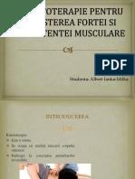 Kinetoterapie Pentru Creșterea Forței Și Rezistenței Musculare