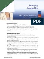 Emerging Renewables - Fact Sheet