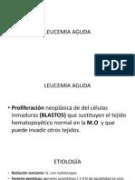 Leucemia Aguda y Cronica