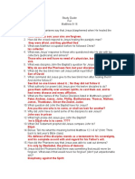 Study Guide Matthew 9-16